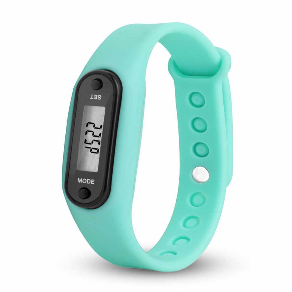 Sport montre-Bracelet intelligente Bracelet affichage Fitness jauge étape Tracker numérique LCD podomètre course étape marche compteur de calories