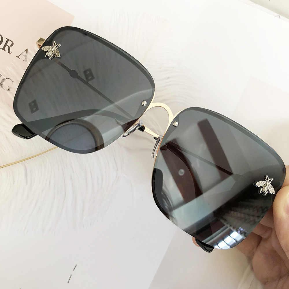 2020 Luxe Merk Ontwerp Vrouwen Zonnebril Oculos Leuke Bij Ontwerp Spiegel Vrouwelijke Zonnebril Vierkante Feminino Zonnebril Dames Gafas