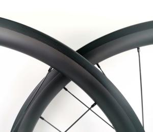 Image 4 - 700c 38mm 깊이 도로 자전거 탄소 바퀴 25mm 폭 clincher/관형 자전거 초경량 탄소 wheelset ud 무광택 마무리