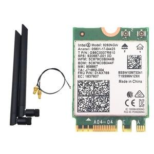 Image 1 - Dual Band Intel 9260 9260NGW 802.11ac 1730Mbps WiFi + Bluetooth 5.0+ 6dbi M.2 IPEX MHF4 U.fl RP SMA Wifi Antenna Set