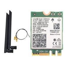 Çift bant Intel 9260 9260NGW 802.11ac 1730Mbps WiFi + Bluetooth 5.0 + 6dbi M.2 IPEX MHF4 U. fl RP SMA Wifi anten seti