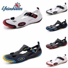 Men's Sandals Sneakers Water-Shoes Unisex Summer Footwear YEINSHAARS Outdoor Roman Zapatos
