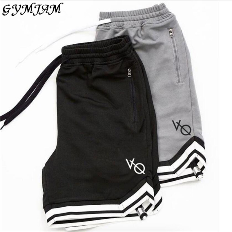 Casual streetwear half trousers fashion men's shorts five points pants into men's fitness shorts gym bodybuilding men's clothing