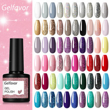 Гель-лак для ногтей Gelfavor Полуперманентная УФ светодиодсветодиодный лампа Блеск для маникюрного набора базовое и верхнее покрытие для ногт...