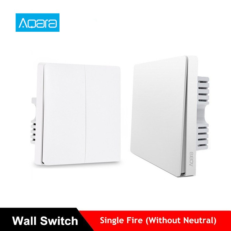 Aqara Wall Switch Light Switch ZigBee Version No Neutral Fire Wire Light APP Control Remote Work For Mijia Mi Home APP