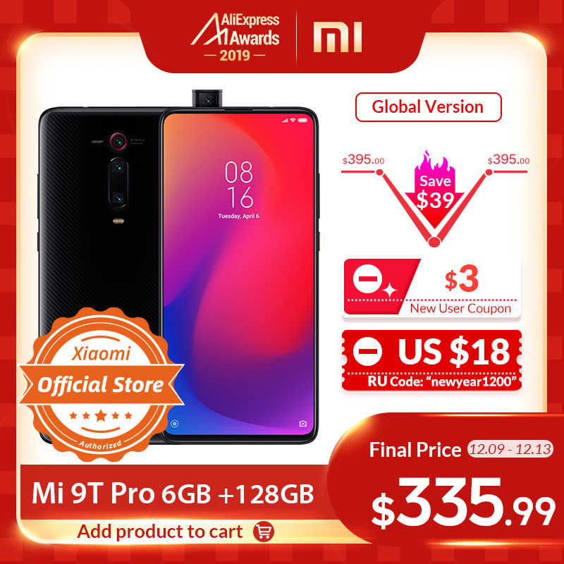 "Xiaomi mi 9T pro 6GB 128GB versión Global Smartphone Snapdragon 855 48MP 4000mAh Cámara 6,39 ""InScreen Fingerprient emergente QC 4,0"