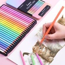 Andstal marco 12/24/48 cores cor do corpo quadrado lápis pastel/óleo clássico/água lápis cor profissional lápis colorido