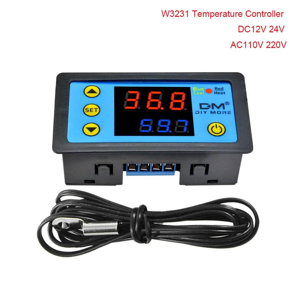 Терморегулятор W3231 для инкубатора, 12 В, 24 В переменного тока, 220 В