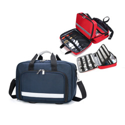 Kit de primeros auxilios para exteriores, bolsa de mensajero cruzada impermeable de nailon rojo para deportes al aire libre, bolsa médica de emergencia para viaje familiar LB005