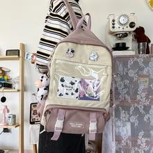 JOYPESSIE Cute Girls Backpack Female Korean Women Mochila Student Bookbag for Teens Large Capacity Simple Waterproof School Bag