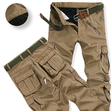 Men's Winter Warm Fleece Cargo Pants Joggers Pants