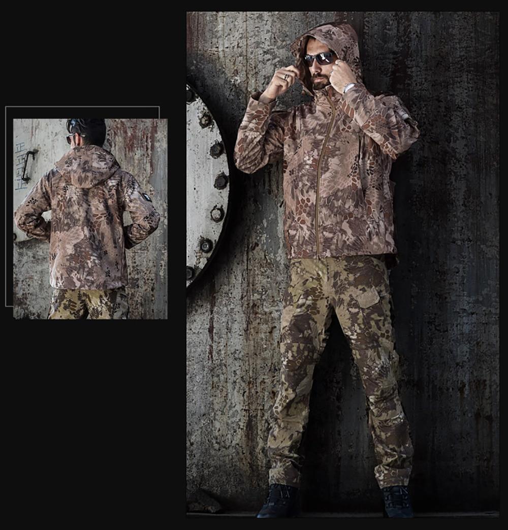 inverno à prova dwaterproof água jaquetas de casca mole blusão caça roupas