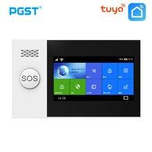 Pgst PG-107 tuya sem fio em casa wifi gsm gprs assaltante segurança em casa com sensor detector de movimento sistema alarme do assaltante controle app