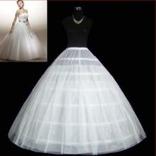 White 6-HOOP PETTICOAT crinoline SLIP Underskirt BRIDAL WEDDING DRESS 2023