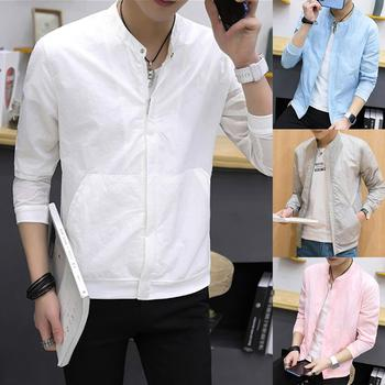 Men Clothing Plus Size M-4XL Men Fashion Long Sleeve Zip Pockets Ultrathin Breathable Anti Sun Jacke