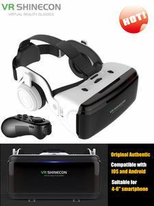 Headset-Helmet Glasses-Box Cardboard Smartphone 3D Bluetooth Stereo VR Android Vr-Google