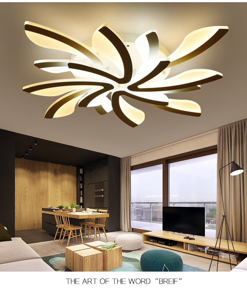 He1f90b51b0a4431d9f6abf3f94dda8e1a LED Ceiling Lights Dandelion Indoor Ceiling Lamp Modern Simple Post-Modern Living Room Bedroom Dining Room Study Room