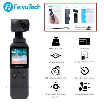 Feiyutech Feiyu Pocket Camera 3-Axis 4K HD Handheld Gimbal Stabilizer  Wide Angle Smart Track Built-in Wi-Fi control Smartphone