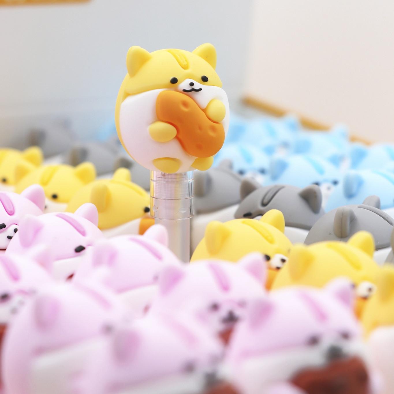 2 Pcs/lot Food Small Fat Hamster Like Eat Gel Pen Ink Marker Pen School Office Supply Escolar Papelaria