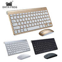 DATA FROG 2.4G Wireless Keyboard Portable Mouse Keyboard For Mac/Notebook/TV Box/PCRussian Keyboard for IOS Android Win 10 7
