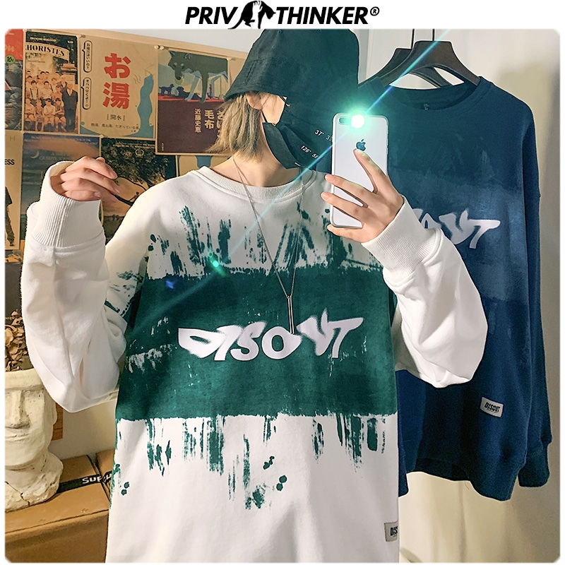 Privathinker Men Woman Print Spring Hip Hop Hoodies Men 2020 Fashion O-Neck Sweatshirt Male Oversize Streetwear Pullover Clothes