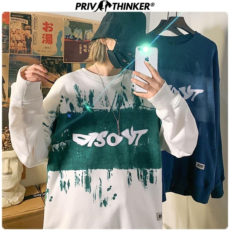 Privathinker Men Woman Print Spring Hip Hop Hoodies Men 2020 Fashion O-Neck Sweatshirt Male Oversize Streetwear Pullover Clothes