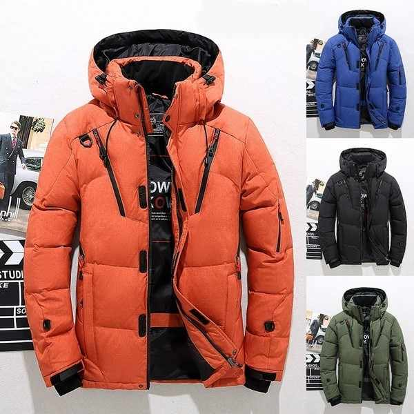 Winter Jacket Men Hooded Thick Warm Jacket Fashion Warm Outwear Casual Slim Parka Mens Jackets and Coats Mens Overcoat