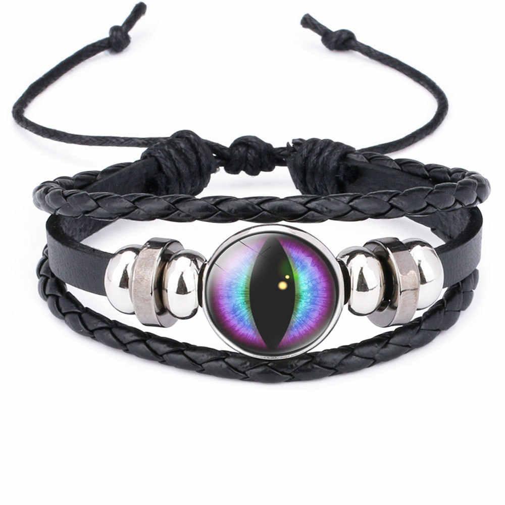 Mauvais œil Bracelets pour hommes femmes Vintage en cuir corde Cool réglable en couches Lot Bracelet breloque turquie bijoux cadeaux de noël
