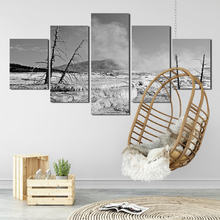 Landscape painting 5pcs snow scenery in the barren mountain