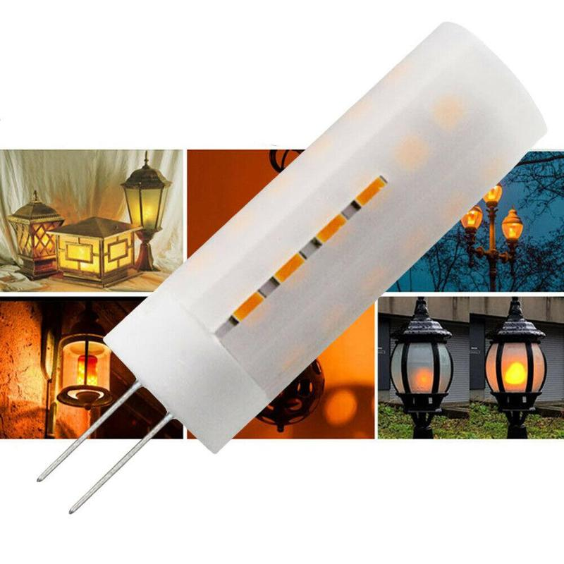 12V-24V G4 Flickering Flame Effect Corn Light DC 2W Emulation Fire Flicker Burn Decoration Lamp LED Fire Flame Bulb Corn Lamp