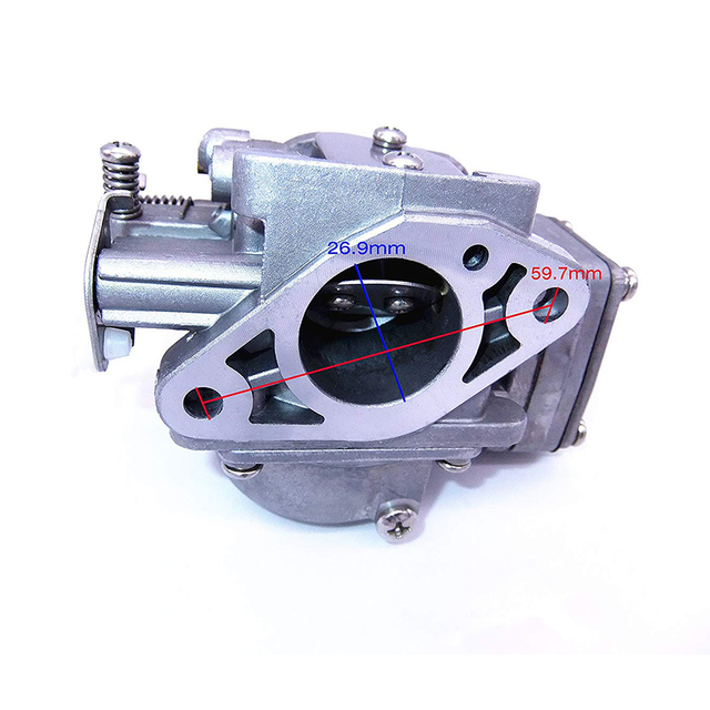 3B2-03200-1 3K9-03200-0 3G0-03200-0 Carburetor Assy and 369-02011-0 Gasket for Tohatsu Nissan 2-stroke 9.8HP M9.8 NS9.8 Outboard