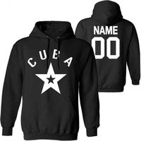 CUBA men pullover diy free custom name number sweatshirt nation flag spanish country republic cu college casual boy clothes