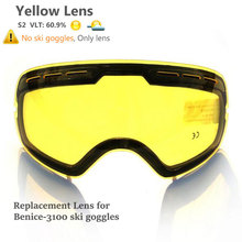Skiing-Lens Glass Cloudy Lightness Snow-3100 Yellow Enhance Model-Number Additional Increase