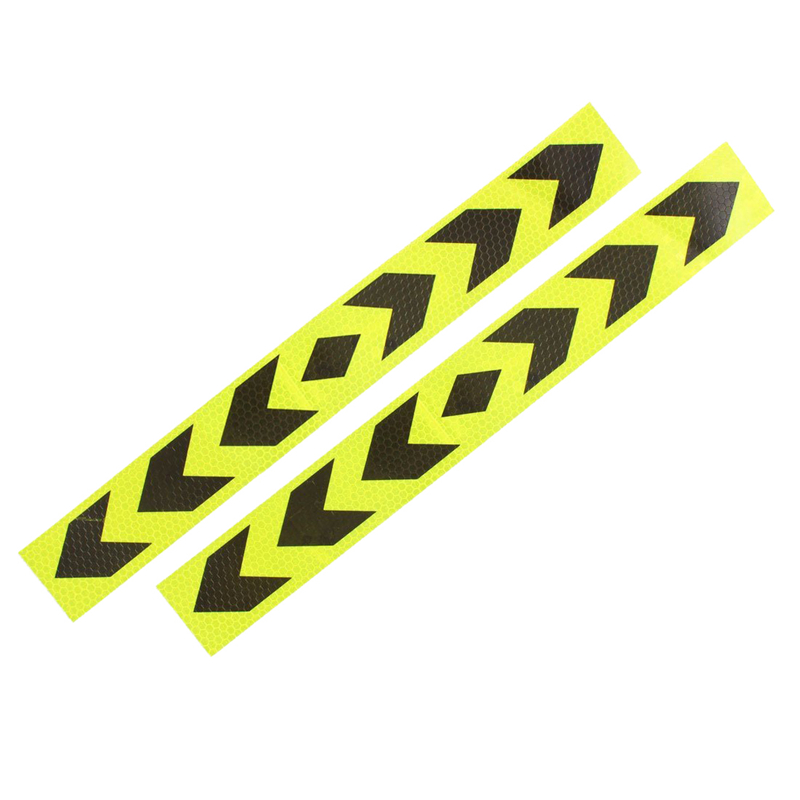 Reflective Car Warning Signal Adhesive Tape Yellow Black 2Pcs|Reflective Strips|   - AliExpress