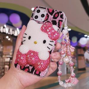 Image 5 - 3D Bling Crystal Cover Voor Iphone Xsmax 8/8 Plus Parel Kat Diy Telefoon Case Voor Iphone X 6 S Plus Luxe Fundas Voor Iphone 7 Plus 11