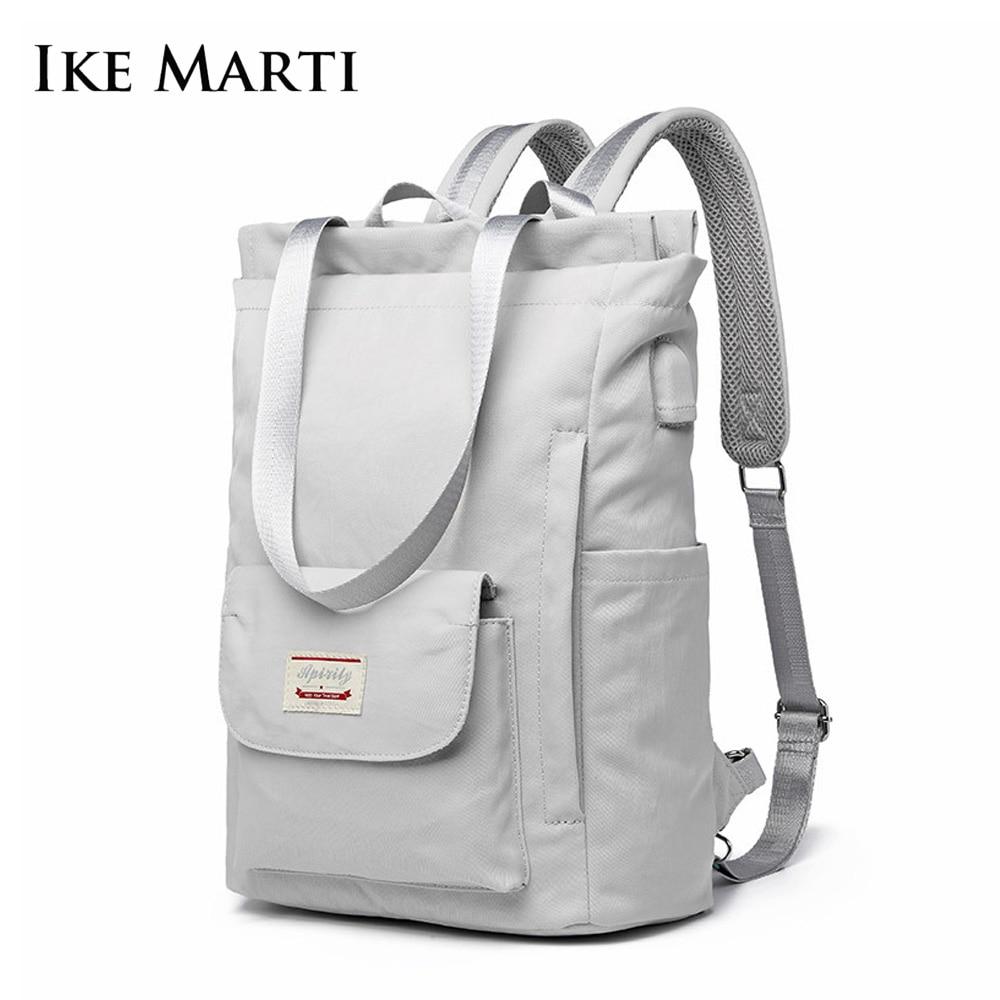 IKE MARTI Fashion Backpck Women 2020 School Hand Bag Girl Multifunctional Backpack Waterproof Usb Charging 15.6 Laptop Backpacks