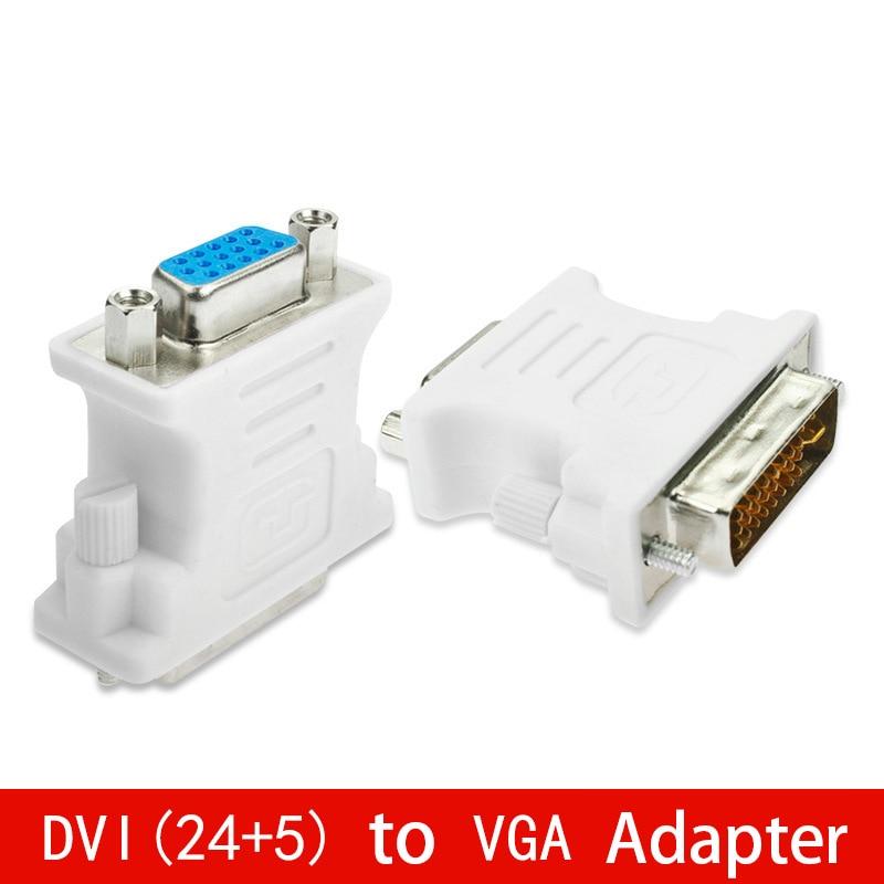 Адаптер DVI (24 + 5) в VGA, конвертер DVI 24 + 5 Pin «папа» в VGA «мама» 1080P для HDTV монитора, компьютера, ПК, ноутбука