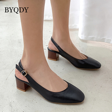 BYQDY Spring High Heels Women Shoes Chunky Heel