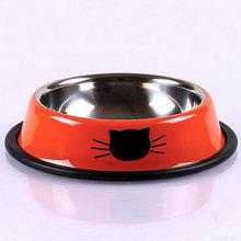 Новые миски для собак и кошек из нержавеющей стали, дорожный автомобильный Фидер для кормления, миска для воды для домашних собак и котов, щенков, блюдо для еды на открытом воздухе