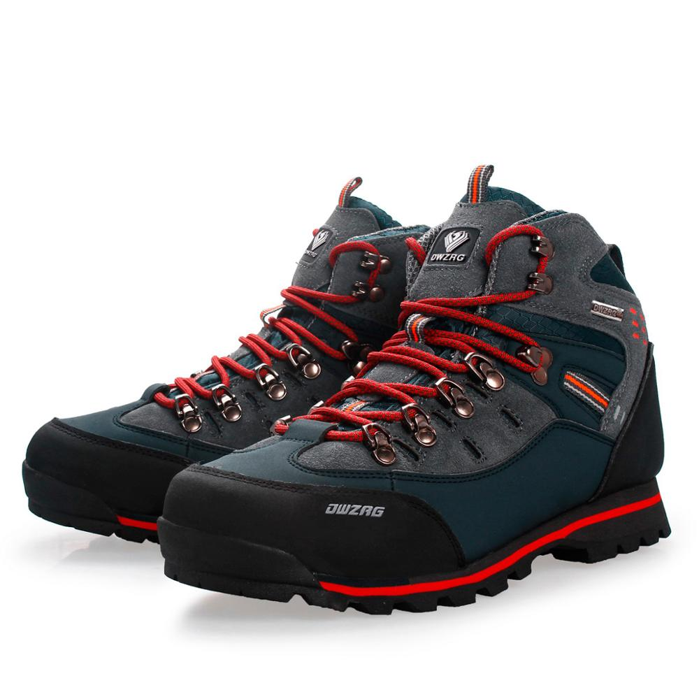 MANLI Outdoor Big Size Waterproof Hiking Shoes For Men Suede Breathable Trekking Sneakers Mountain Boots Anti-Slippery Sneakers