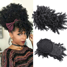 Kinky Curly Bangs Drawstring Synthetic Clips On Hair Extentions Fringe False Hairpieces For Women 8inch Fake Frange