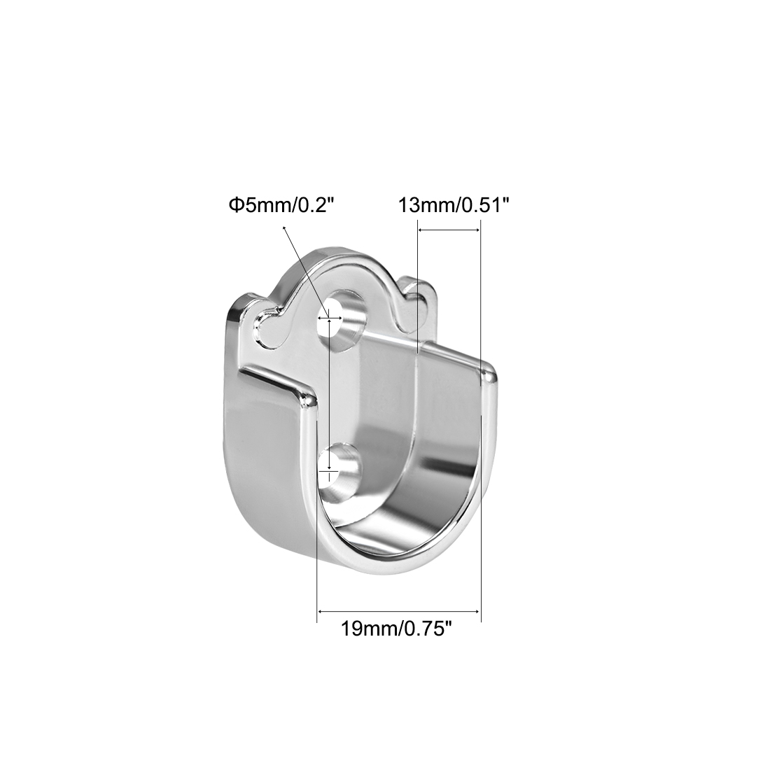 Wardrobe Rod Flange Bracket Support Fit Rod Dia 22mm 4 PCS uxcell Zinc Alloy Oval Closet Rod End Supports