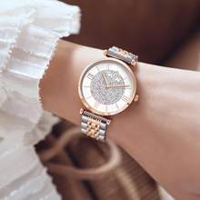 Fashion Casual Women Watch Paved Rhinestone Roman Numerals Round Dial Alloy Band Analog Ladies Quartz Wrist Watches Female Gifts(China)