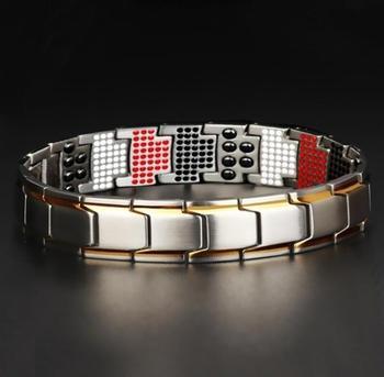 Silver-Gold-Germanium-Magnetic-Bracelet-Man