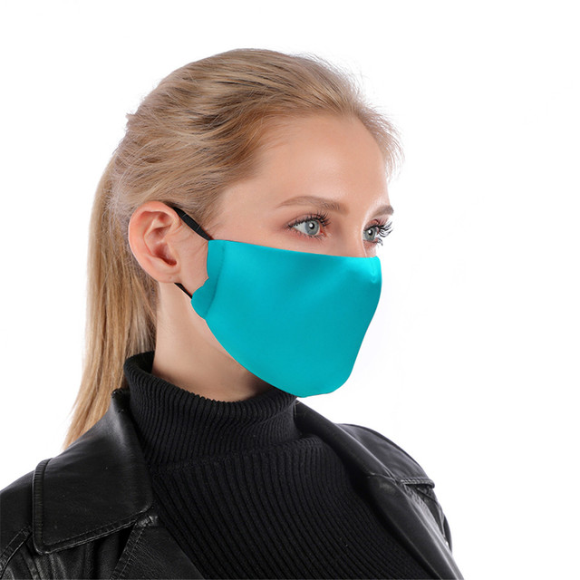 12 Pure Colors With Adjustable Straps Reusable Mouth Mask White Blue Washable Face Mask With Filter Mask Windproof Mask 1