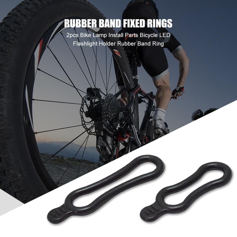 2pcs El/ástico Ligero de goma O anillos para luz LED para bicicleta linterna frontal