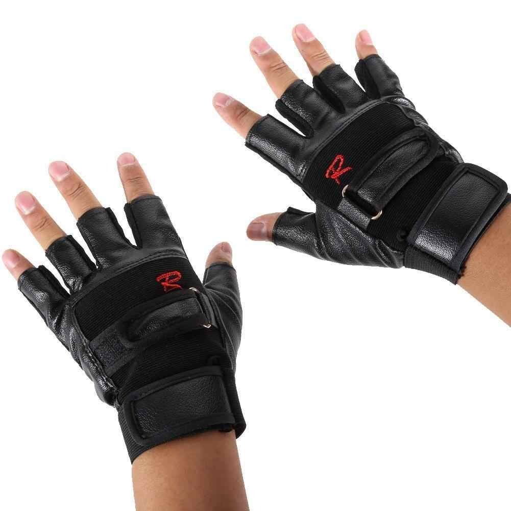 1 par de alta resistência levantamento de peso ginásio luva exercício esporte fitness esportes equitação levantamento de peso luvas de couro