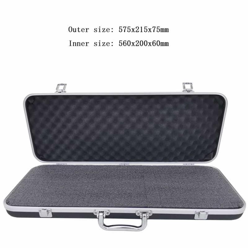 Draagbare plastic aluminium toolbox Koffer slagvast Veiligheid Instrument case opbergdoos met Spons Voering