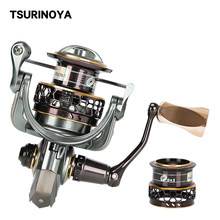 Tsurinoya carretel de pesca jaguar 1000 2000 3000 carretéis duplos 9 + 1bb molinete de pesca de água salgada molinete rígida corpo alumínio