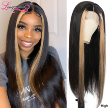 Longqi Highlight 27# Bob Lace Front Wig 8 24 Inch 150% 13x4 Lace Front Human Hair Wigs Remy Brazilian Straight Lace Front Wig